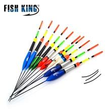 Poisson roi 10 pièces/lot pêche flotteur ensemble Flutuador mélange taille couleur pour carpe pêche bouée Boia flotteurs Pesca attirail
