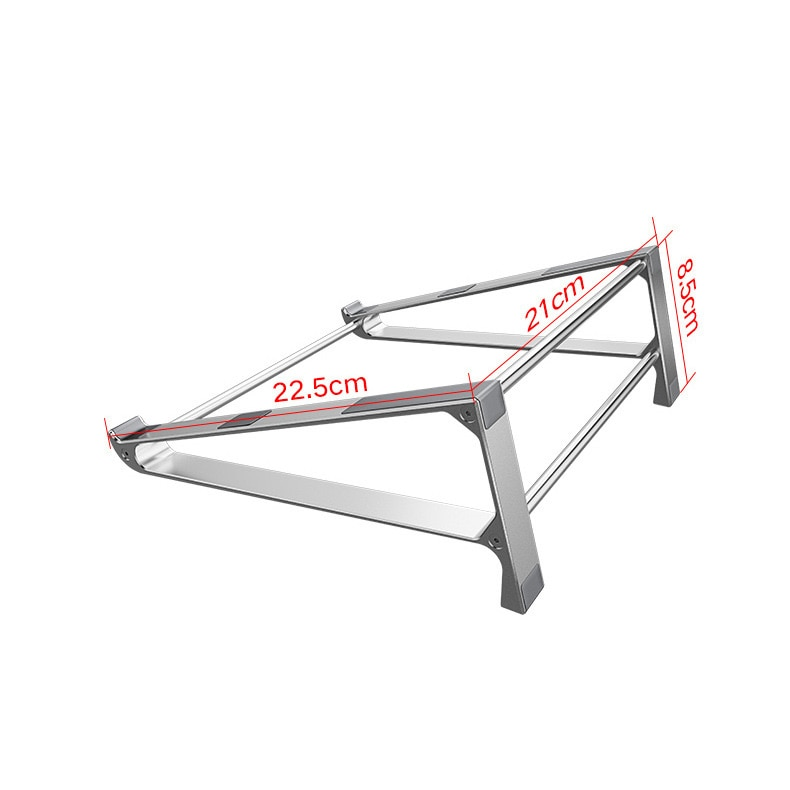 Купить с кэшбэком Aluminium alloy Vertical storage Laptop Stand Desktop Tablet Holder Desk Mobile Phone Stand For iPad Macbook Pro Air Notebook