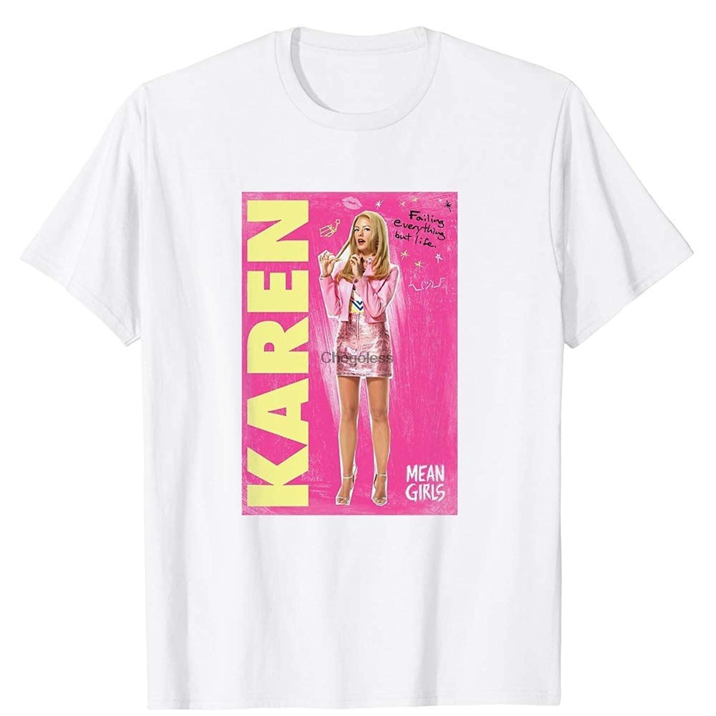 Camiseta unissex para meninas do sexo masculino karen smith de meninas médias o musical falha tudo mas presente da vida