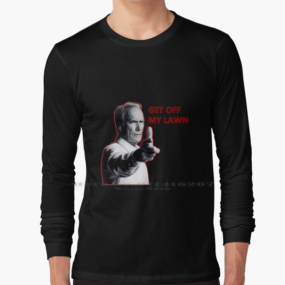 Clint Eastwood - Get Off My Lawn - Gran Torino T Shirt 100% Pure Cotton Clint Eastwood Gran Torino Dirty Harry Get Off My Lawn