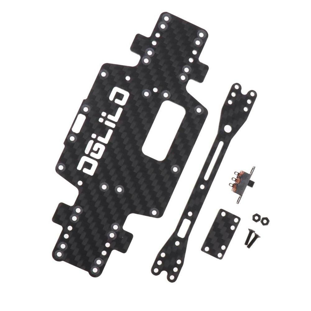 LeadingStar Wltoys K969 K979 K989 K999 P929 P939 1:28 RC Car Spare Parts Upgraded Carbon Fiber Chass