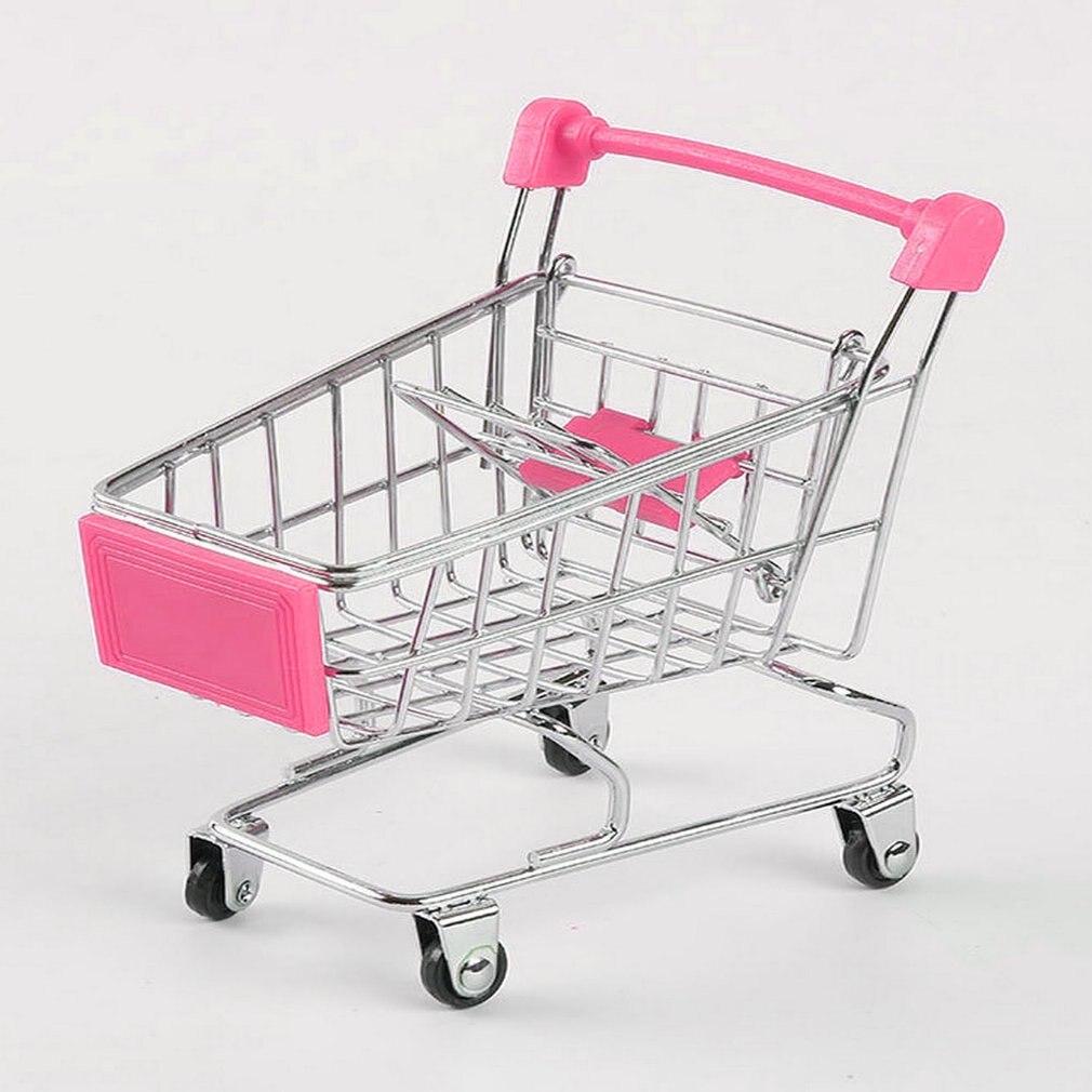 Креативная миниатюрная тележка для супермаркета, металлическая детская игрушка