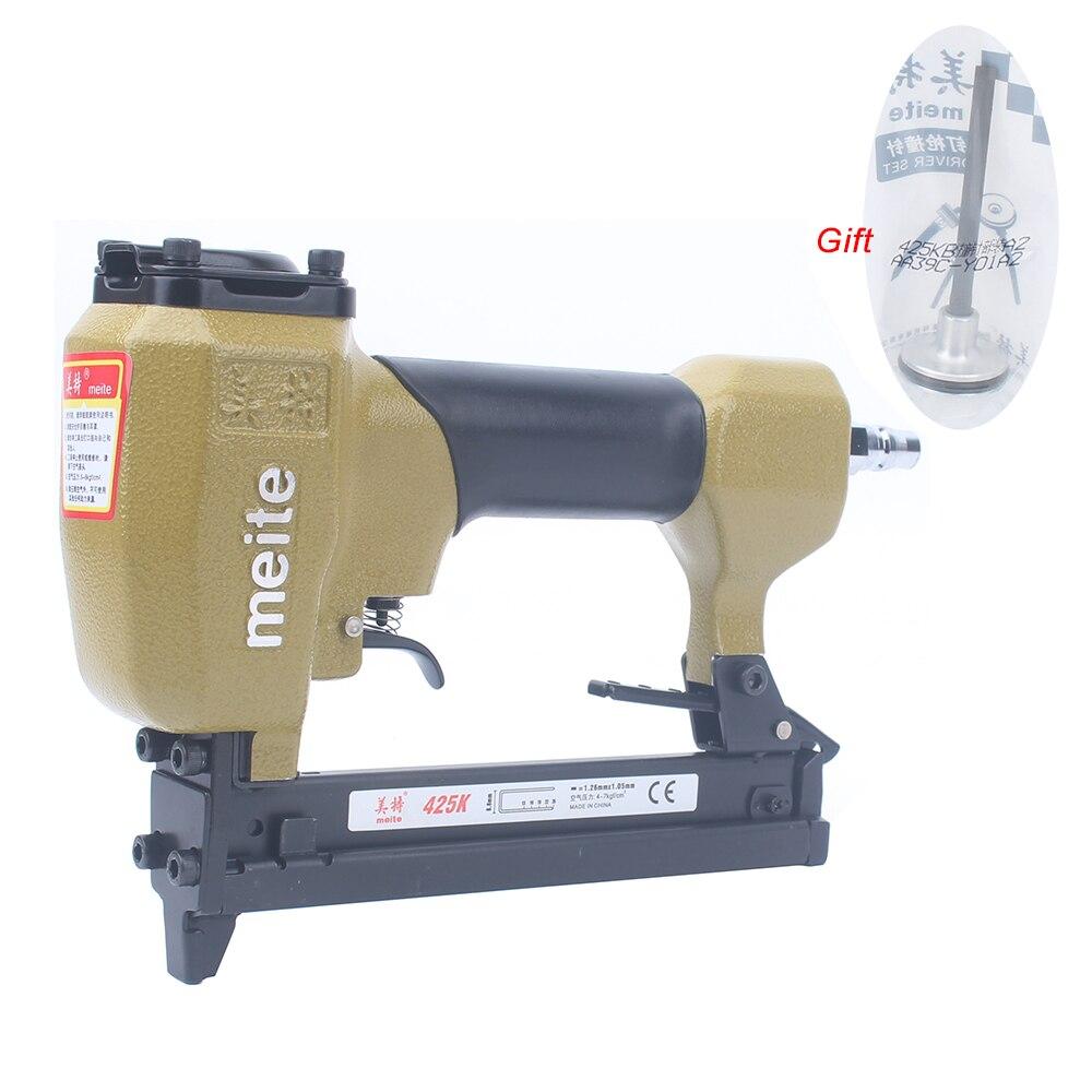 Пневматический U-образный степлер Meite 425K для украшения/кожи/обуви