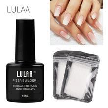 1Set Nail Extension Fiberglass (Fiber Glass Silk Nails Wrap Stickers Nail Form) + Nail Extension Glue Women Nail Art Tools TSLM2