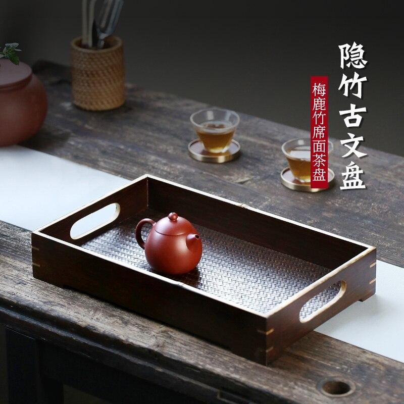 Chang tao 】 merlot thick bamboo home tea tray manually place receive bamboo GuWenPan Cain