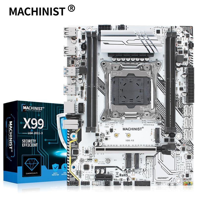 MACHINIST X99 carte mère LGA 2011-3 prise en charge du processeur Intel Xeon E5 V3 & V4 quatre canaux DDR4 RAM SATA/NVME M.2 slot X99-K9