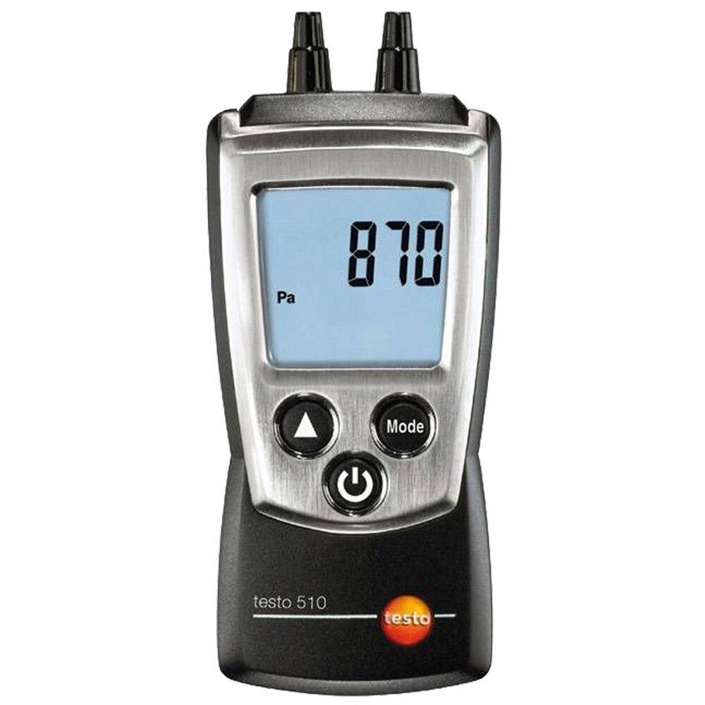 جهاز قياس الضغط الرقمي من enjo510 مقياس ضغط الهواء فرق ضغط الهواء 0-100hPa أداة قياس دقيقة تعمل بالهواء المضغوط
