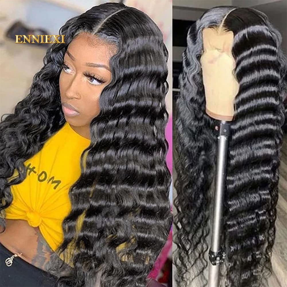 Remy Human Hair Wigs for Women 24 26 Inch Loose Deep Wave Wig 13x4 Lace Front Deep Wave 4x4 Closure Lace Frontal Wig Lace Wig