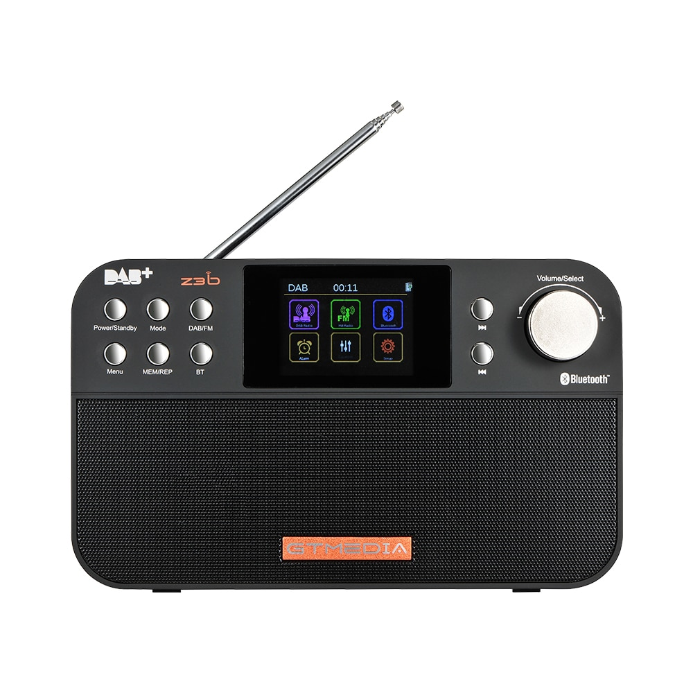 GTMEDIA Z3B Portable Radio FM DAB Stereo RDS Multi Band Radio Speakers with LCD Display Alarm Clock Support Micro SD TF Card enlarge