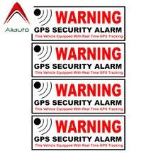Aliauto 4 X GPS Security Alarm Warning Mark Car Sticker for Mini Cooper Countryman Clubman Hatch R50