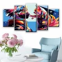 anime naruto 5 piece sasuke hd poster canvas painting mural living room home cuadros decoration