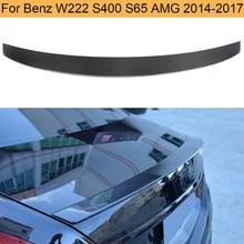 Carbon Fiber Car Rear Trunk Spoiler for Mercedes Benz S Class W222 S400 S65 AMG 2014-2017 Rear Trunk Lip Spoiler Wing Boot Lip
