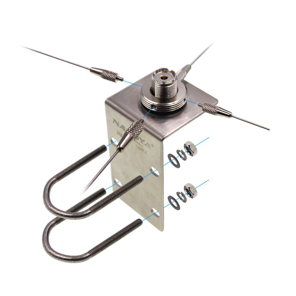 Nagoya RE-05 Antenna Bracket 10-1300MHz Ground Redical for Mobile Radio SO239-PL259/NMO Antenna Strengthen