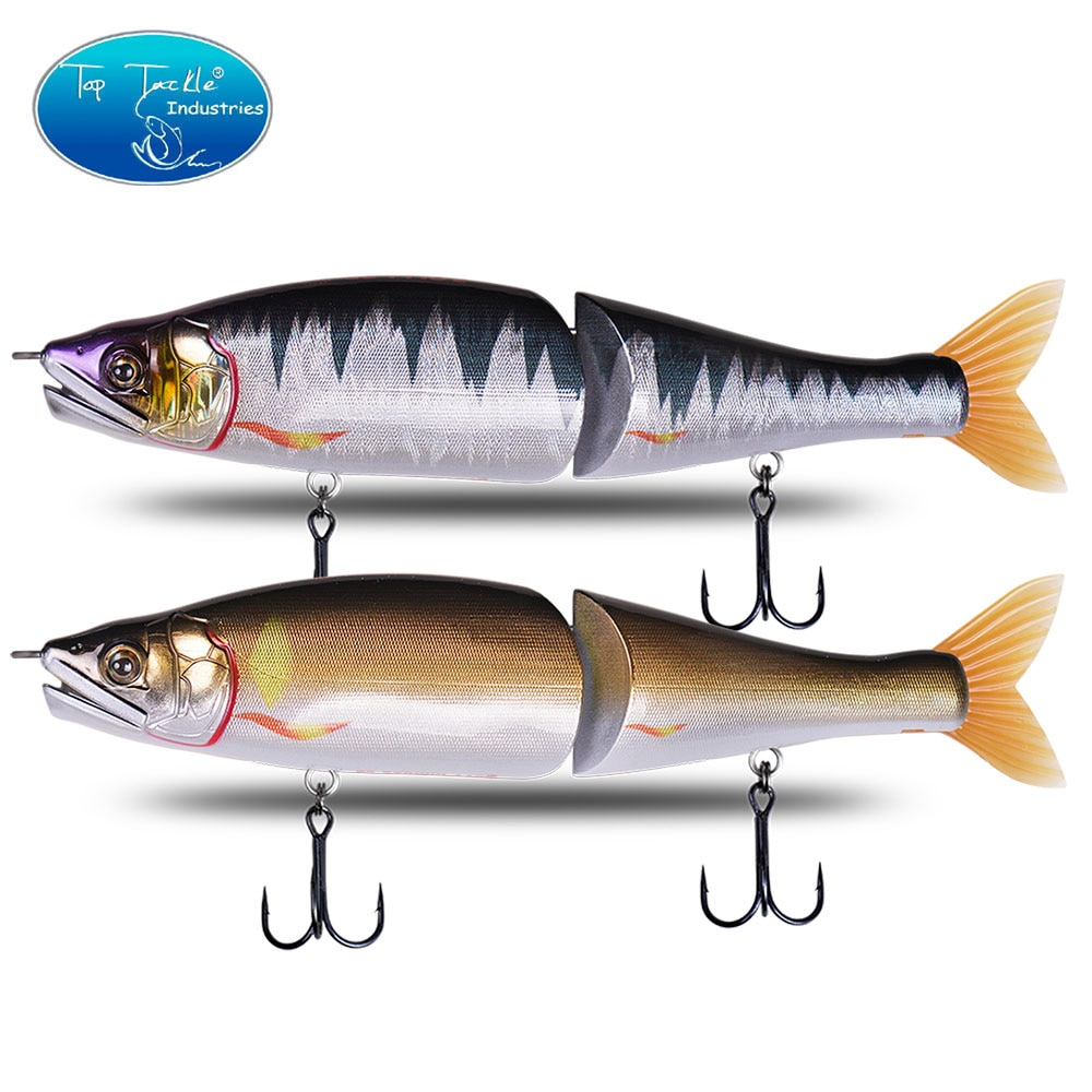 swimbait jointed bait for Pike Big Bass Fishing Lure 220mm 178mm slow sinking floating  CF.LURE Segments Slide  Jointed Baits