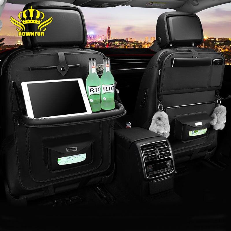 Car storage bag seat back car interior bag back hanging bag backrest mobile phone storage bag sundry bag Suitable for most cars