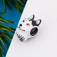 Fit Original Charm Bracelet 925 Sterling Silver Heterochromia Husky Dog With Zirconia Eye Bead For Making Women Berloque 2021