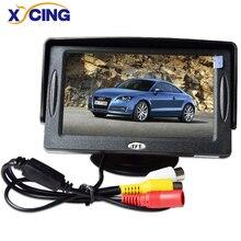 XYCING 4,3 Zoll Farbe TFT LCD Farbe Monitor 480x272 Pixel Auto Rück Sonnenschirm Monitor für Auto rückansicht kamera DVD VCD
