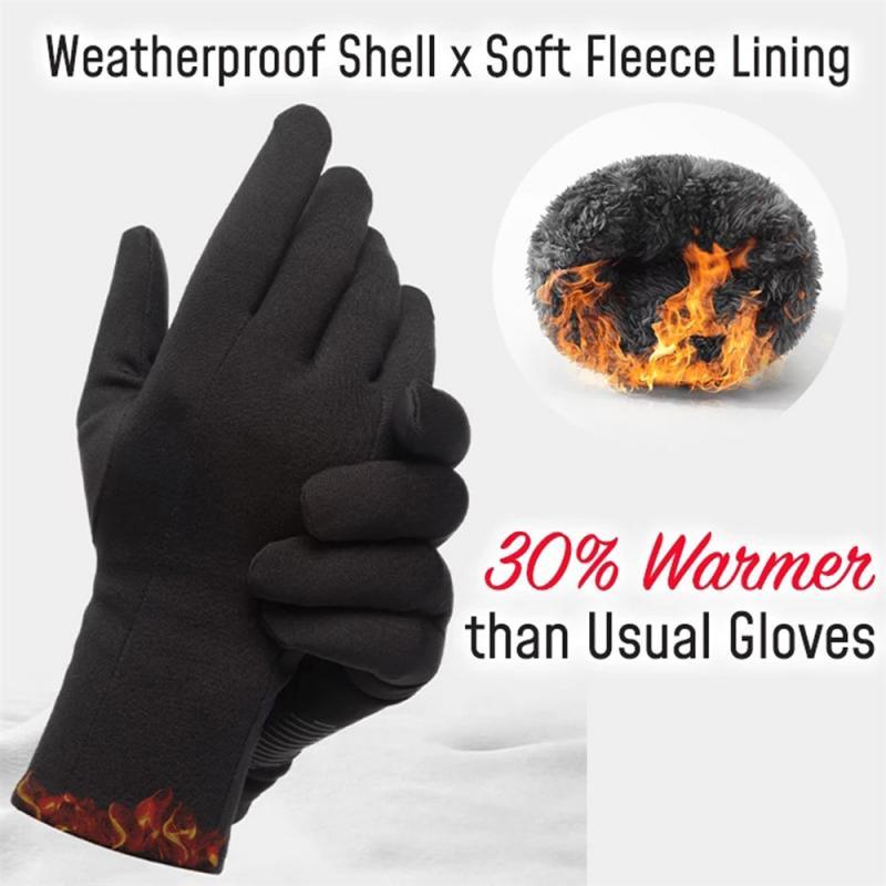 Mais novo windstopper luvas anti deslizamento à prova de vento térmica touchscreen luvas de inverno respirável tático das mulheres dos homens preto quente