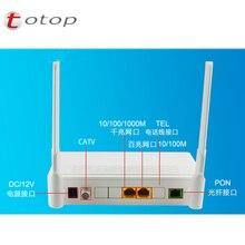 Najwyższa jakość 1*10/100M + 1*10/100/1000M + CATV + WIFI angielska wersja światłowodowy onu ont epon modem darmowa wysyłka