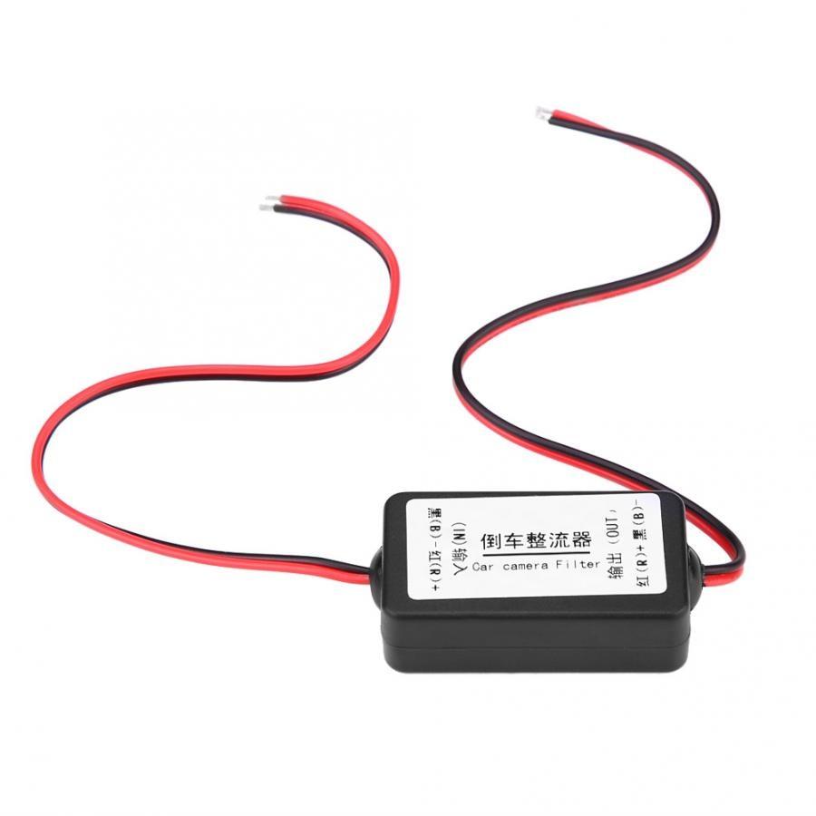 Rectificador de filtro de condensador de relé de 12V para retrovisor de coche adaptador de cámara de marcha atrás