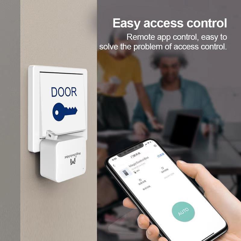 Temporizador de Controle para Ios Android para Casa Interruptor Inteligente Knop Pusher Voor Garagem Muur Lichtschakelaar Bluetooth 5.0 App