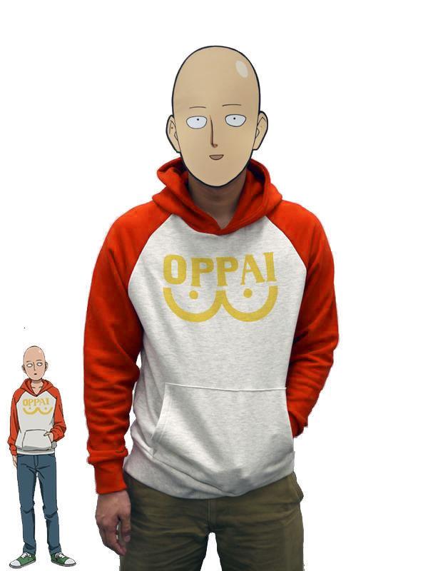 One Punch Man Hero Saitama Толстовка Oppai японского аниме косплей костюм куртка с капюшоном толстовки Размер S-2xl