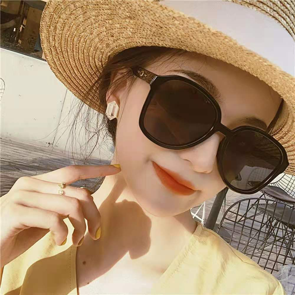 Корейские модные солнцезащитные очки в большой оправе женские модные очки в гонконгском стиле мужские индивидуальные декоративные очки в ...
