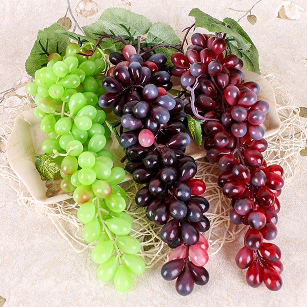 1 pçs frutas artificiais uva artificial diy plástico falso frutas natal decoração de casamento casa simulação frutas