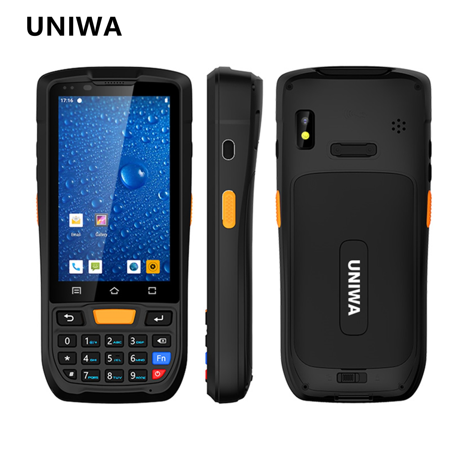 UNIWA HS001 IP67 Waterproof Smartphone 2GB RAM 16GB ROM 8MP Android 9.0 Mobile Phone 4300mAh NFC Cellphone Support  UHF PSAM