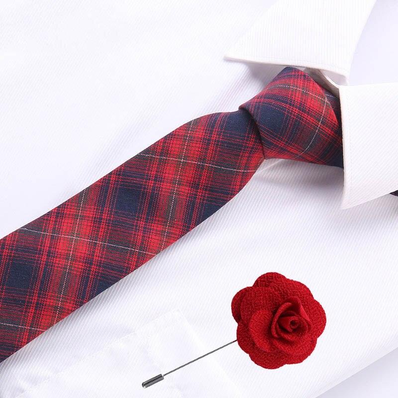 Модные галстуки для мужчин 6,5 см хлопок тонкий галстук обтягивающие Галстуки зимние мужские вечерние галстуки обтягивающие Галстуки повсе...