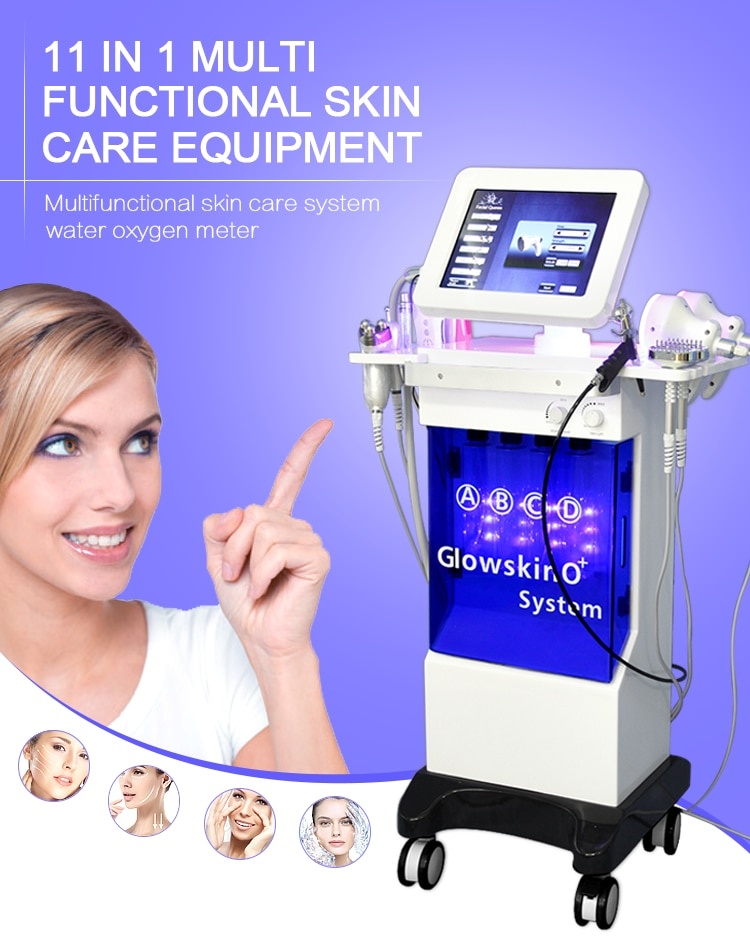 Máquina profesional de microdermoabrasión con chorro de oxígeno hidrafacial, equipo de belleza...