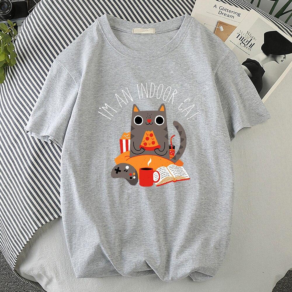 Мужская футболка с принтом кошки сидящего и едущего пиццы, качественные спортивные футболки, стильные футболки, модные удобные мужские фут...