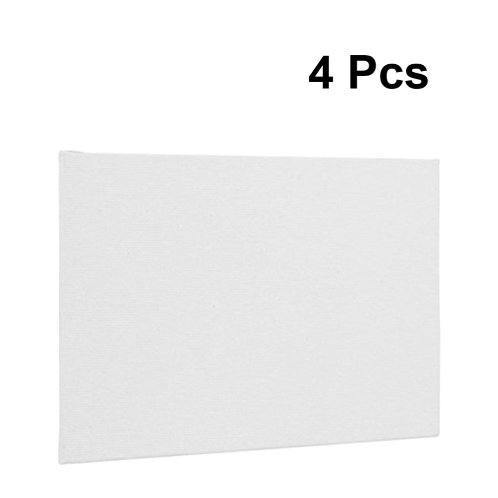 4pcs Artist Canvas Panel Boards 20x20cm Size Art Painting Board (White)