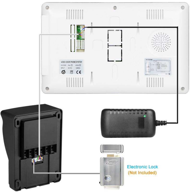 Video Door Intercom Entry System Kit Wired Video Doorbell Phone Rainproof Call Panel IR Camera for Home Villa Building Apartment enlarge