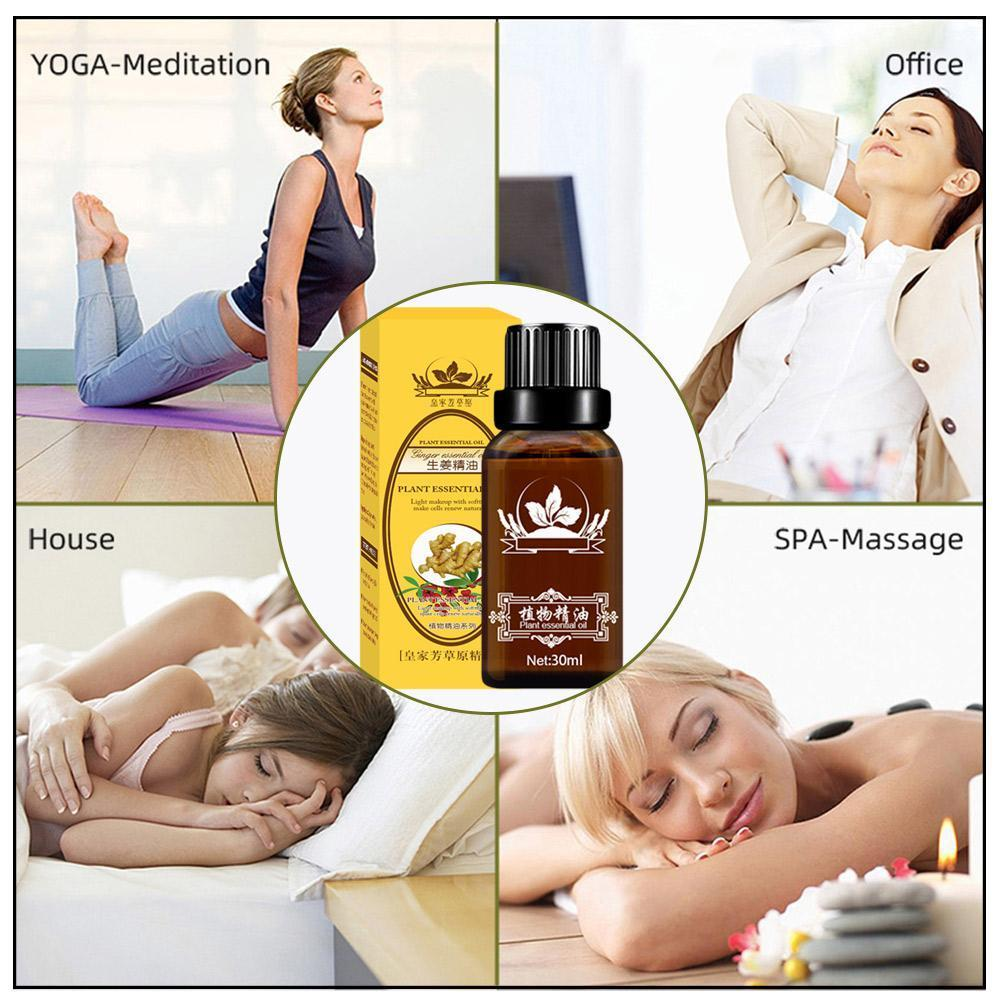 Natural Ginger Massage Oil Promote Metabolism Massage Oil Relieve fatigue Reduce stress Body Firming