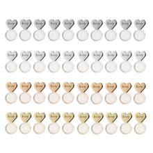 10Pcs Herz Liebe Magie Ohrring Heber Ohrring Aufzüge Rücken Verstellbare Hypoallergen Ohrring Muttern Ohr Lappen Unterstützung