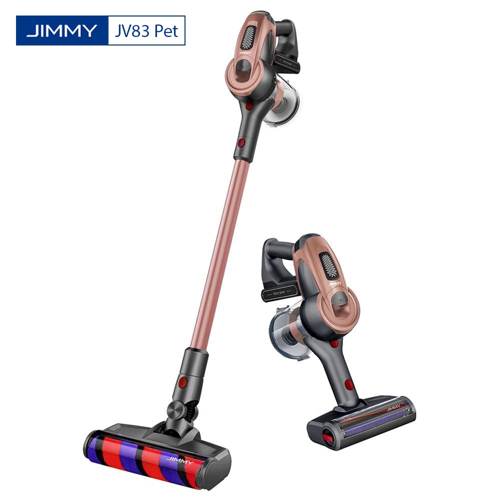 Беспроводной ручной пылесос JIMMY JV83 для домашних животных с всасыванием 20 кПа 400 Вт Цифровой бесщеточный двигатель с защитой от намотки волос...