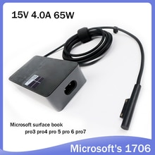 15V 4A 65W tablet pc charger 1706 for Microsoft Surface Pro 4 1724 Surface Book model 1705 laptop AC