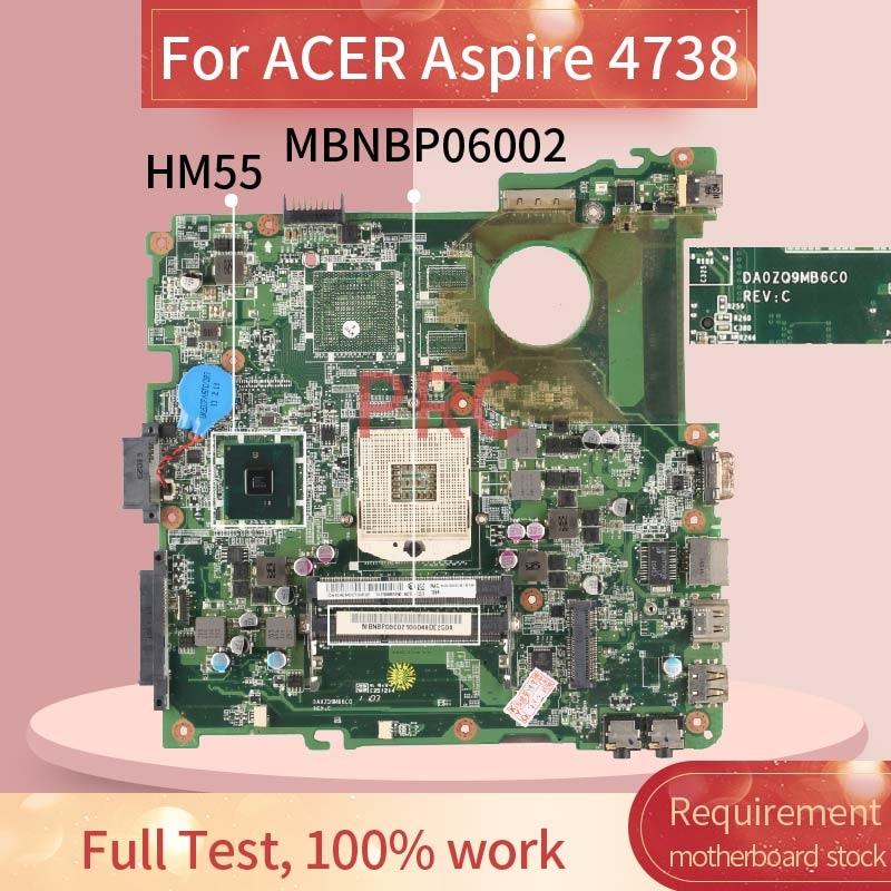 MBR9Y0600 لشركة أيسر أسباير 4738 الكمبيوتر المحمول اللوحة الأم DA0ZQ9MB6C0 HM55 DDR3