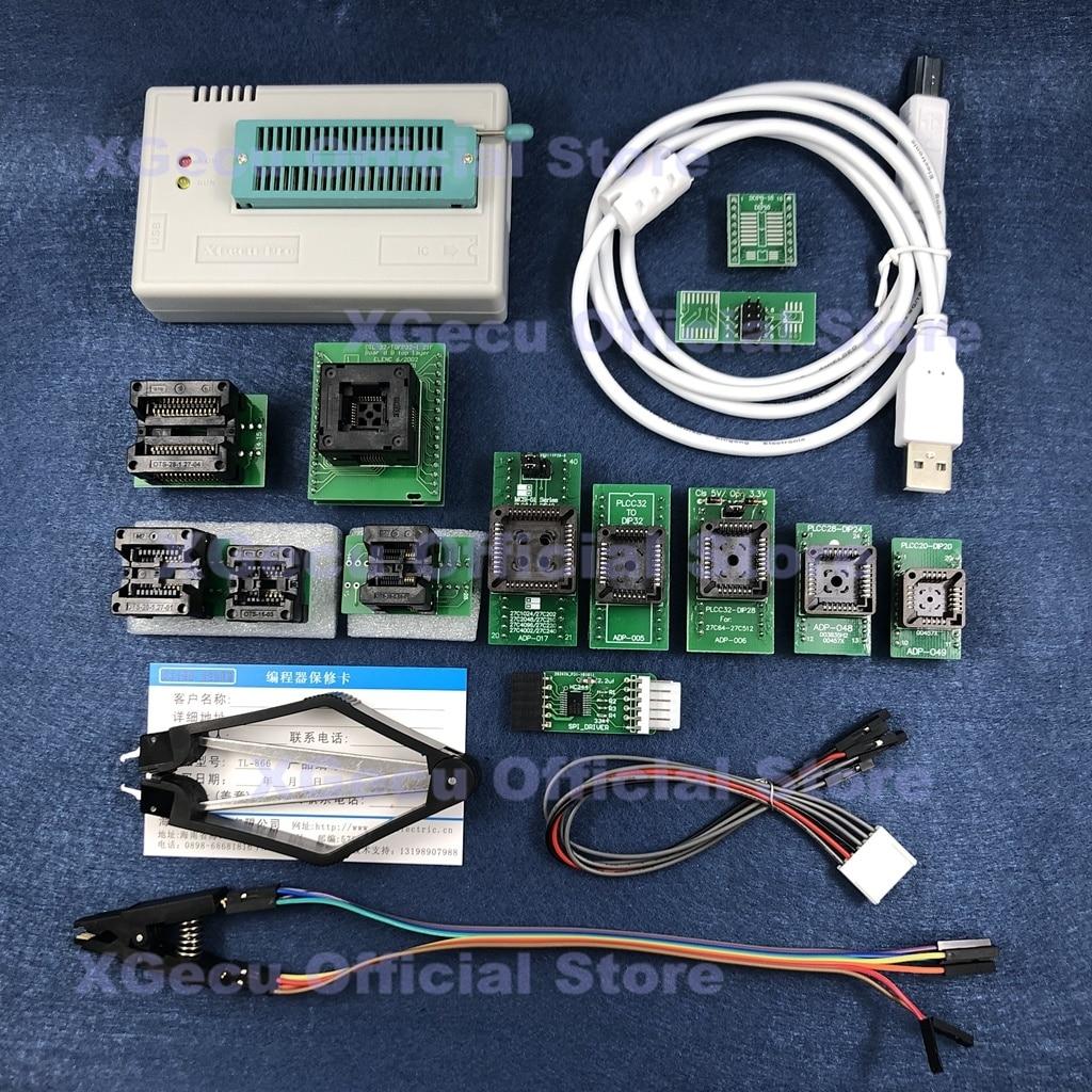 V10.15 XGecu TL866II más programador Universal de apoyo 15000 + IC SPI Flash NAND EEPROM MCU AVR reemplazar TL866A TL866CS + 14 piezas