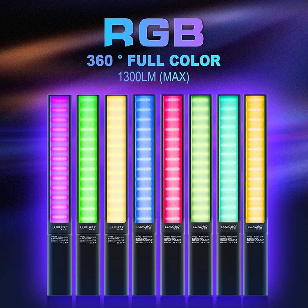 APP Control Photography Lighting RGB Handheld Ice Light Stick LED Video Light Lamp,36000 Colors, 12 Light Effect, 2500-6500K NEW enlarge