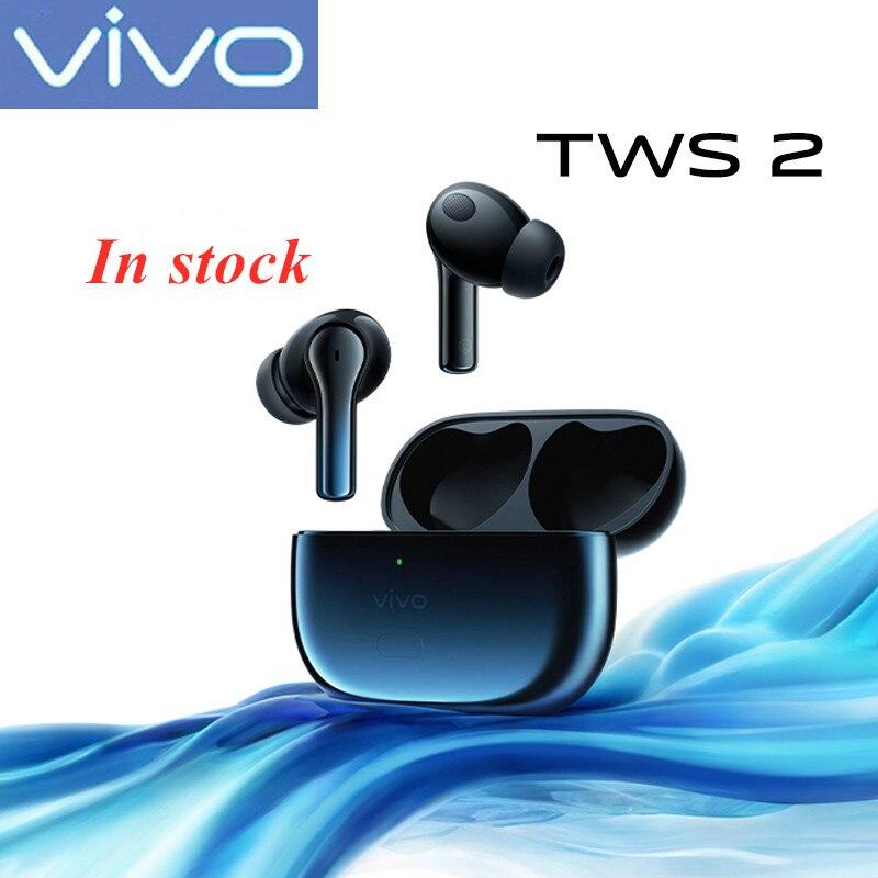فيفو TWS 2 سماعة الأذن 14.2 مللي متر aptX AAC BT5.2 IP54 سماعة لاسلكية تعمل بالبلوتوث سماعة X60 برو زائد X50 X30 برو iqoo Nex3 U3x Z5x Y31