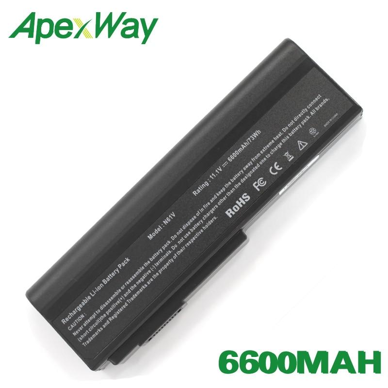ApexWay 9 celdas batería para ASUS A32-M50 A32-X64 A33-M50 L062066 L072051 L0790C6 N43J N43JF N53 N53J N53JF N53JG N53JL N53JN