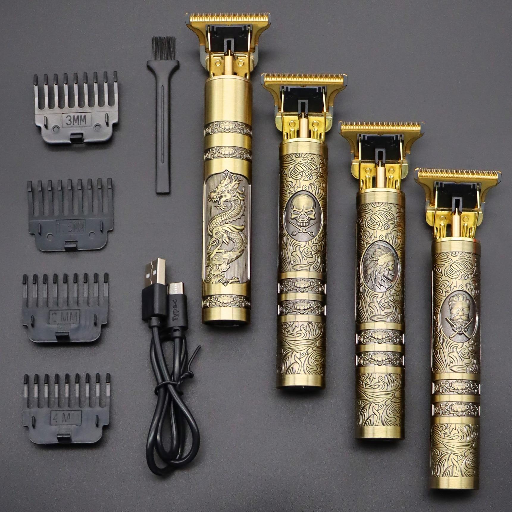 2020 USB T9 Hair Clipper Professional Electric hair trimmer  Barber Shaver Trimmer Beard 0mm Men Hai