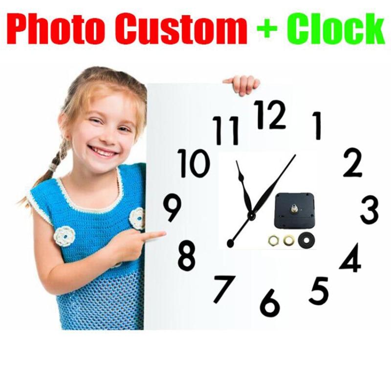 """""""Personalización de foto + reloj"""" pintura de diamante Kit de punto de cruz cuadrado completo/redondo 5D imagen bordada personalización Personal privada"""