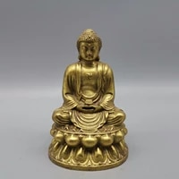 collection chinese brass carved sakyamuni exquisite small buddha metal crafts home decoration