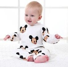 Vêtements Disney pour bébés garçons et filles   Combinaison hiver Mickey, motif de dessin animé, pour nouveau-nés et nourrissons