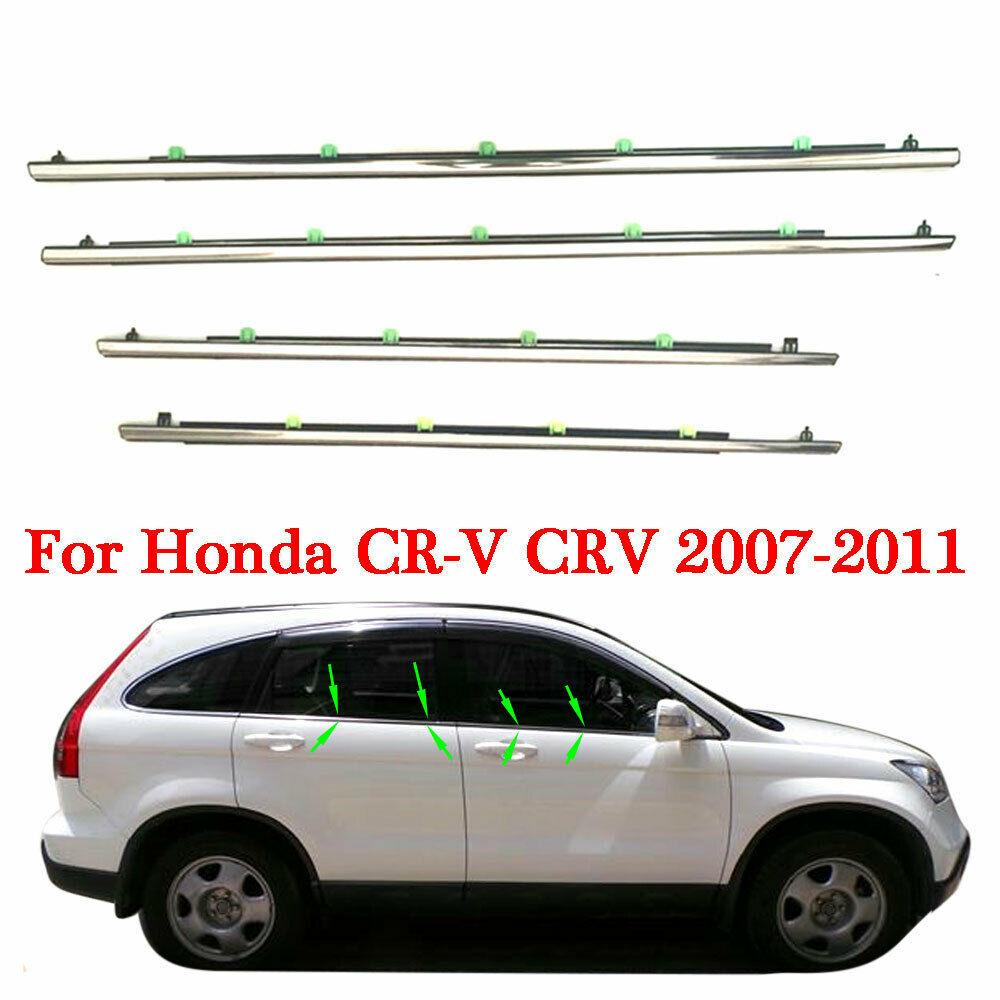Para Honda CRV CR-V 2007-2011/ 2012-2015 moldura de ventana de coche embellecedor burletes sello 4 Uds