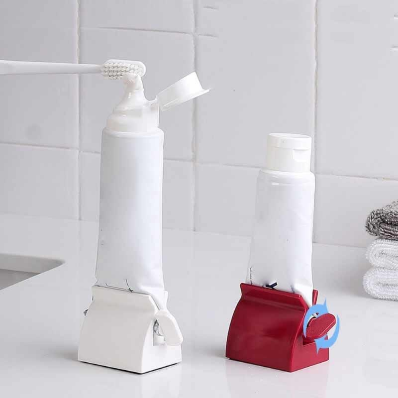 1pcs Easy Squeeze Toothpaste Holder Roller Lazy Toothpaste Clip Red/White Toothpaste Squeezers Exquisite Bathroom Product