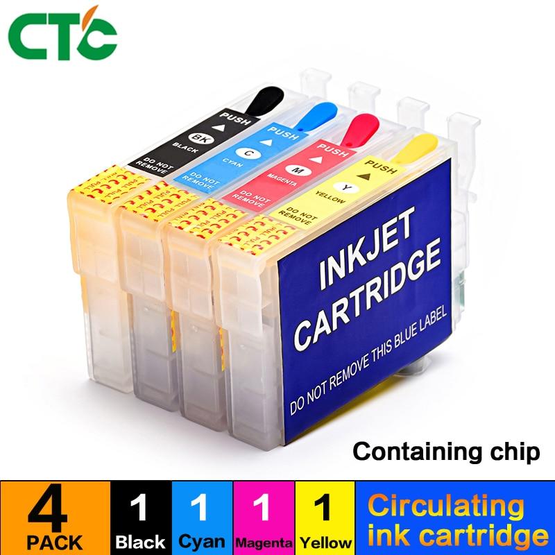 73 73N recargable cartucho de tinta compatible para EPSON Stylus C79 C90 C92 C110 CX3900 CX3905 CX4900 CX4905 CX5500 impresora de inyección de tinta